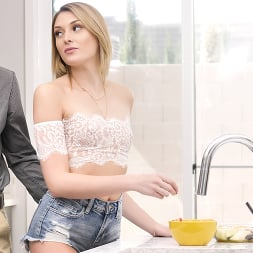 Charlotte Sins in 'Porn Pros' Kitchen Blowjob (Thumbnail 7)